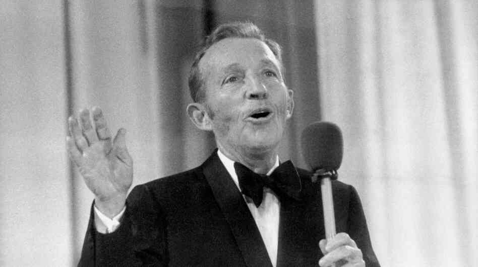 Christmas music superstar Bing Crosby performing in 1977, back when the season, at least on the radio, s