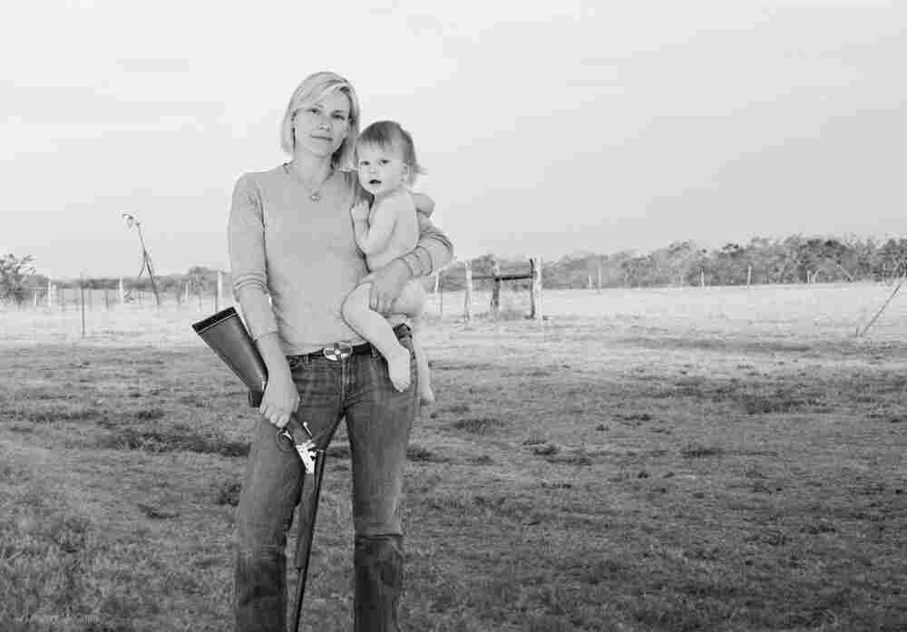 Photographer Lindsay McCrum's new book includes images of women who feel that hunting is a way to bring people and family together. Among those women is Alexandra, who poses for McCrum with her son, Truett, and her Ithaca 20-gauge side-by-side shotgun.