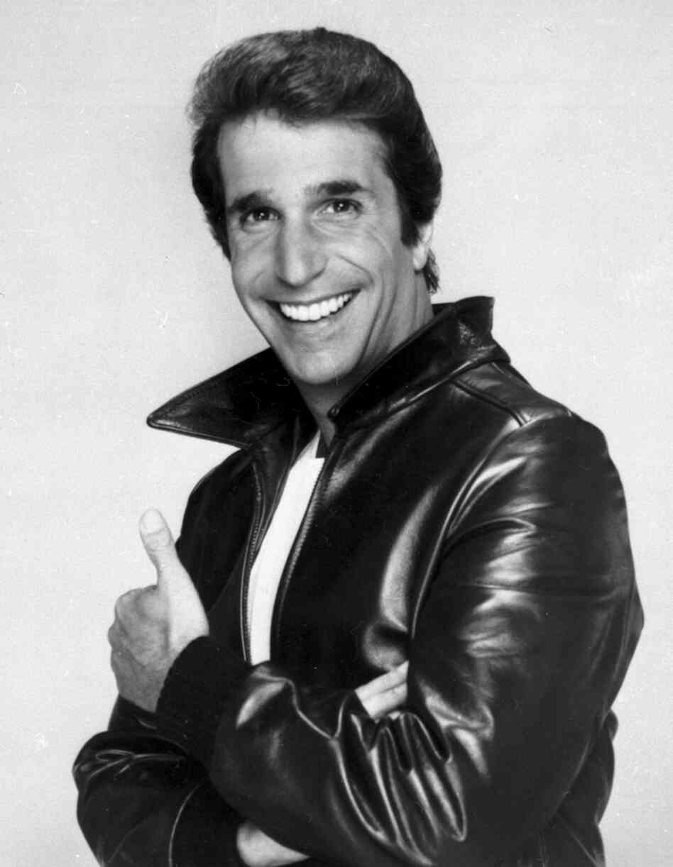 "Henry Winkler as ""The Fonz"" in 1984."