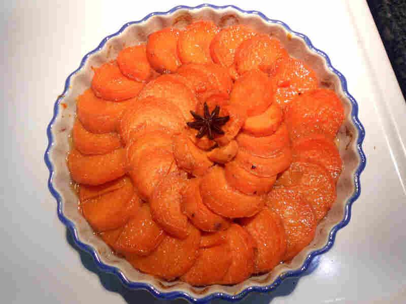 Flambeed sweet potatoes