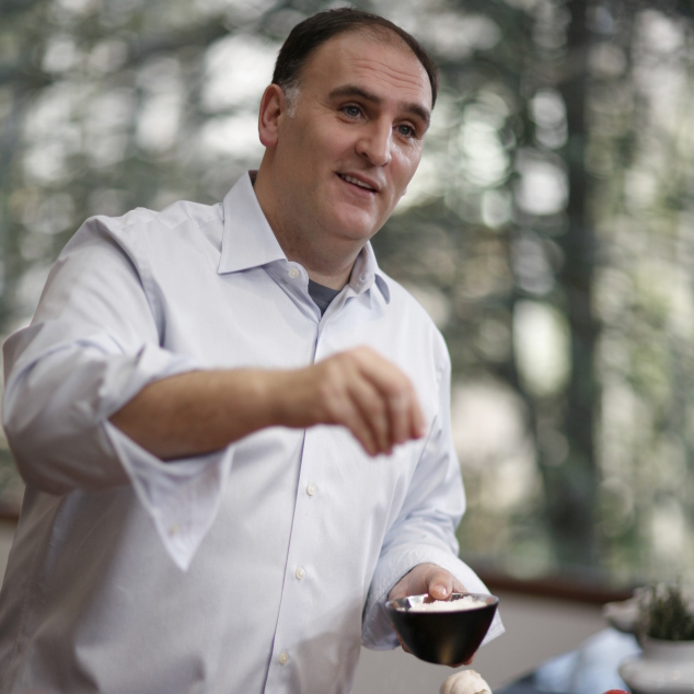 Chef José Andrés serves up American food with historic roots at his new restaurant.