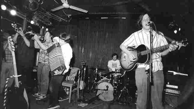 Neutral Milk Hotel performs at Spaceland in Los Angeles in 1998.