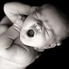 A yawning newborn.