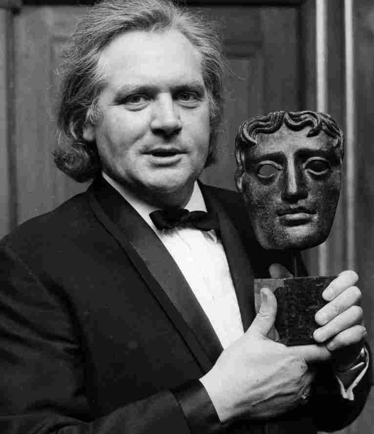 Ken Russell (1927-2011) accepts a BAFTA in 1969 for creative contribution to television.