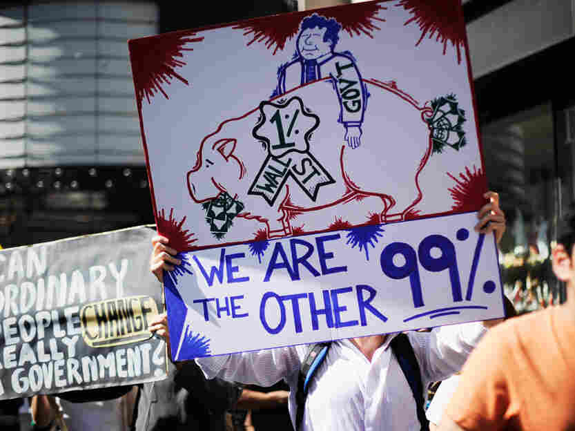 Protestors at 'Occupy Los Angeles.'