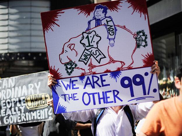 Protestors at 'Occupy Los Angeles.'