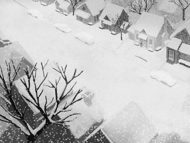 Illustration: A snowy street.
