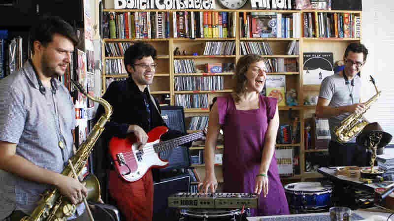 tUnE-yArDs performs a Tiny Desk Concert at the NPR Music offices on October 7, 2011.