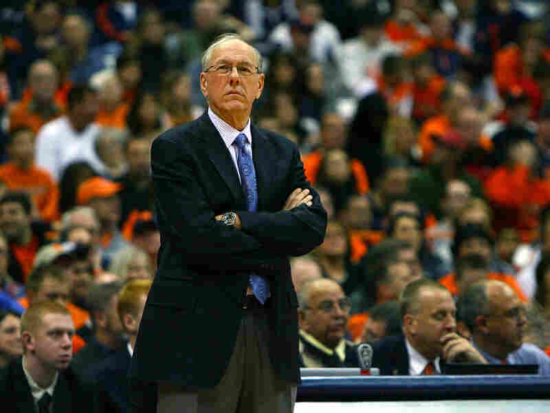 Syracuse coach Jim Boeheim (above), two days after sexual abuse allegations against a former assistant were made public, and Detroit Mayor Dave Bing (below), during a youth leadership event last year, played alongside each other in the 1960s.