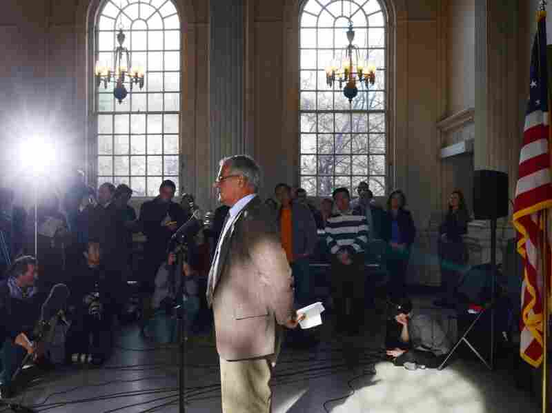U.S. Rep. Barney Frank (D-MA) announces he will not seek re-election at Newton City Hall on Nov. 28, 2011 in Newton, Massachusetts.