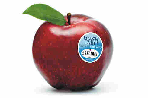Some fruit labels can turn into a wash to clean your fruit