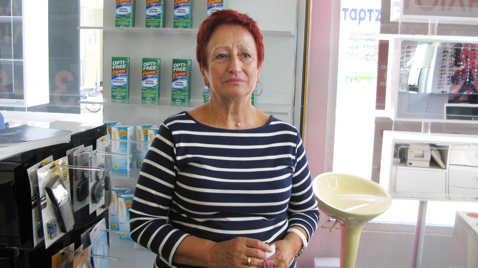 In Volos, optician Klita Dimitriadis accepts partial payment in Local Alternative Units, or TEMs. She then spends the TEMs at a monthly farmers market, or exchanges them for other services. (NPR)