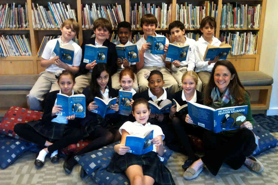 Megan Monaghan's fifth grade class at St. Hilda's & St.Hugh's elementary school in New York City is loving The Phantom Tollbooth.