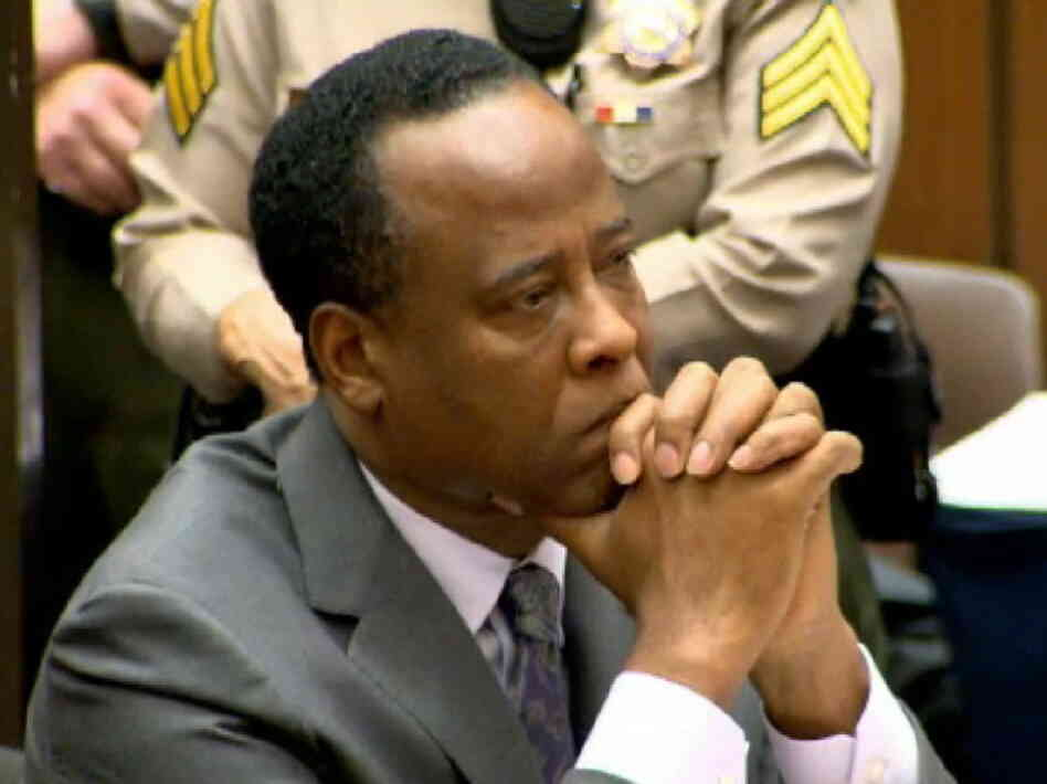 In this CNN screen grab, Dr. Conrad Murray listens as he sits in court dur
