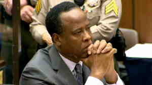 In this CNN screen grab, Dr. Conrad Murray listens as he sits in court during his sentencing for the involuntary manslaughter of singer Michael Jackson.