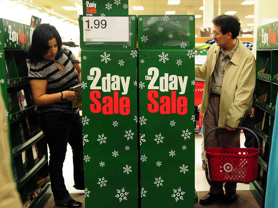 Shoppers browse through items on sale at a Target store in Rosemead, east of Los Angeles on November 25, 2011. Numbers indicate a strong Black Friday despite the weak economy. We'll recap the start to the shopping season in today's