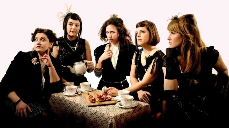 The musical group Victoire, features Missy Mazzoli, composer/keyboardist, Olivia De Prato, violin, Eileen Mack, clarinet, Lorna Krier, keyboards, and Eleonore Oppenheim on double bass.