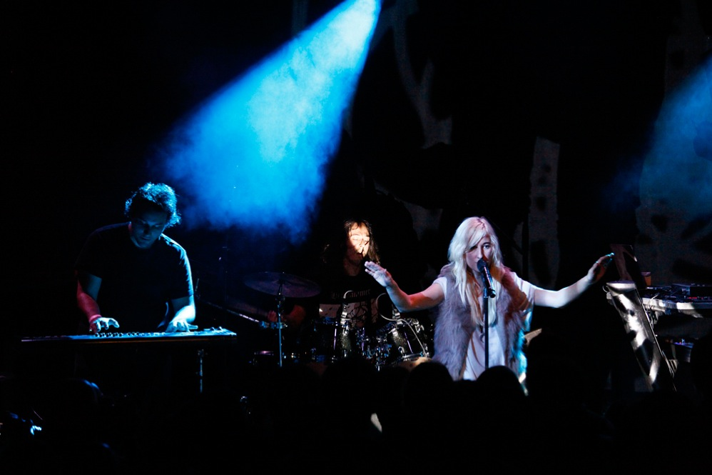 Zola Jesus, performing live at (Le) Poisson Rouge in New York City Oct. 19, 2011.