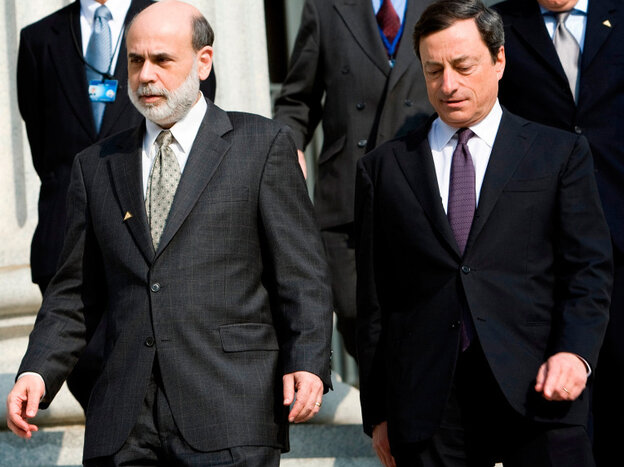 Federal Reserve Chairman Ben Bernanke and European Central Bank President Mario Draghi.