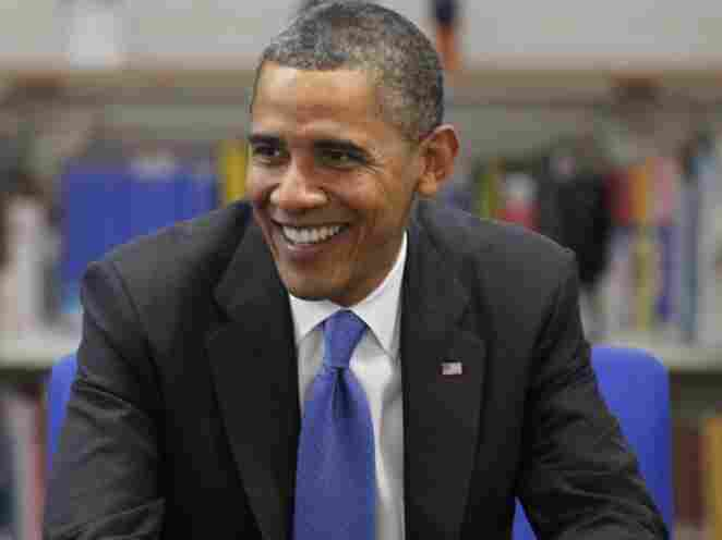 President Barack Obama smiles as he speaks to students of Campbell High School on his visit to Australia, on Nov. 17, 2011 in Canberra, Australia.