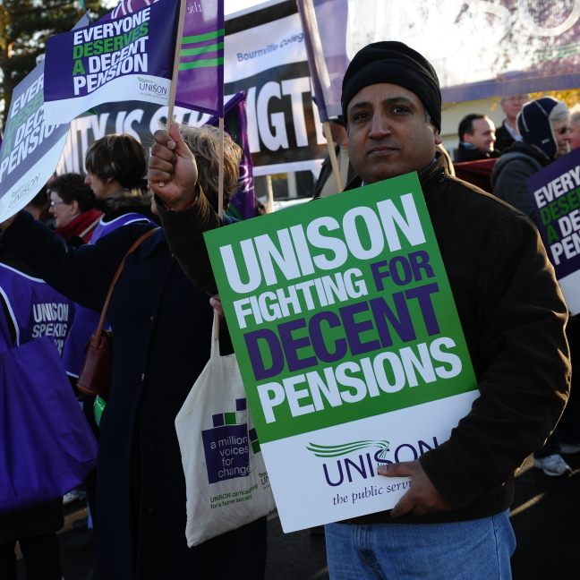 Workers picketed outside the Bournbrook Ambulance Station in Birmingham earlier today (Nov. 30, 2011).