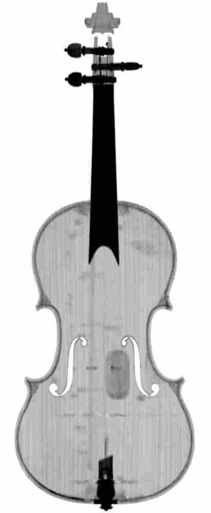 CT scan of the front of the original Stradivari Betts violin.