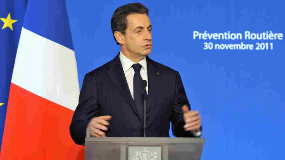 France's President Nicolas Sarkozy delivers a speech on road safety at the Elysee Palace in Paris on Nov. 30.