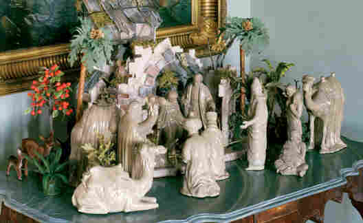 Stewart made this nativity scene during her 2004 incarceration at Alderson Federal Prison Camp in West Virginia.