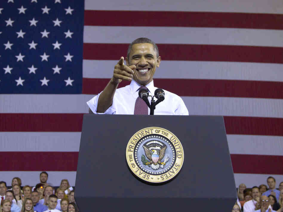 President Obama received a warm welcome at Scranton High School in Scranton, Pa., Wednesday. A surge in Hispanic voters in that sta