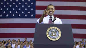 President Obama received a warm welcome at Scranton High School in Scranton, Pa., Wednesday. A surge in Hispanic voters in that state could make his chances of winning it a little more likely.