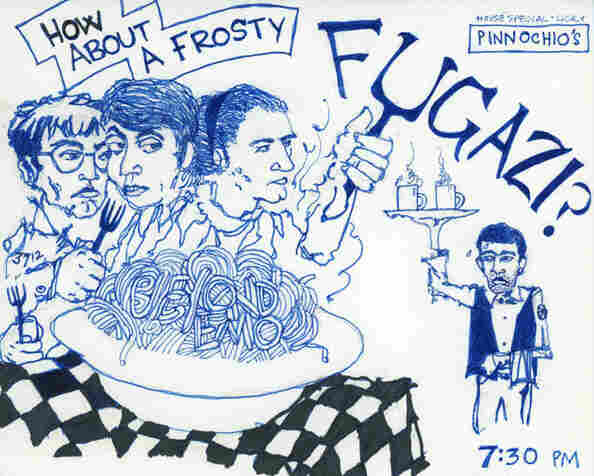 Detail of the flyer from Fugazi's first show in 1987.