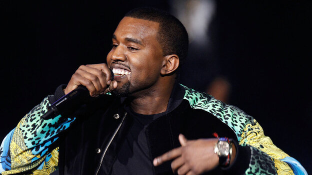 Kanye West performing during the Victoria's Secret Fashion Show in early November.