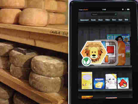 Cheese and a Kindle Fire.