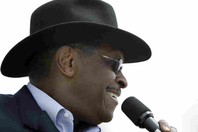 Cain speaks during a Tea Party rally in Des Moines, Iowa, on April 16. He has never held a political post but ran unsuccessfully for a U.S. Senate seat in Georgia in 2004 and briefly ran for the GOP presidential nomination in 2000.
