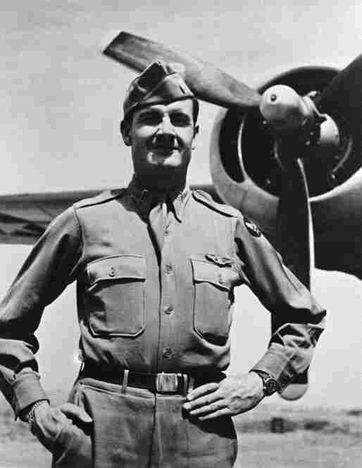 McGovern receives the Distinguished Flying Cross during World War II in 1944.