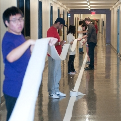 "MIT's ""infinite corridor"" is 825 feet long, giving the students enough room to go for the record."