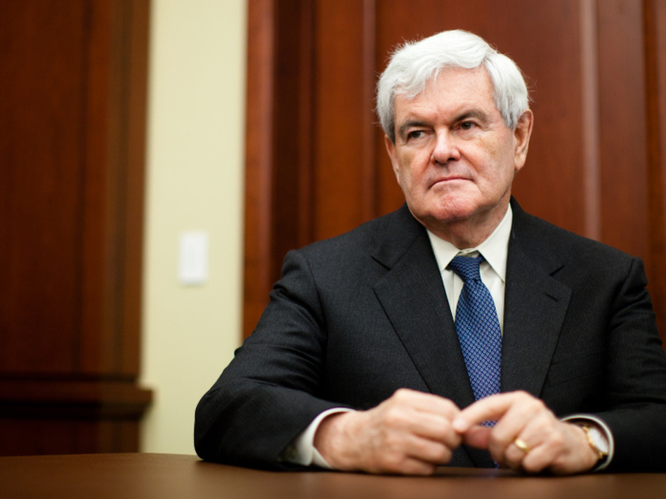 Former House Speaker Newt Gingrich, shown at an event on health care on Capitol Hill this March, founded the Center for Health Transformation.