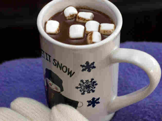 George Washington would approve of hot chocolate on a cold winter's day.