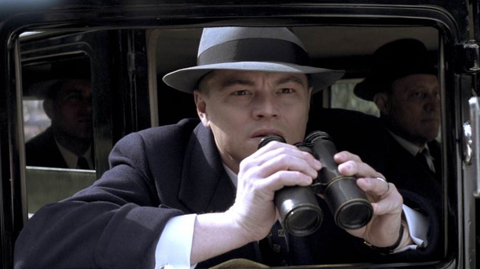 Leonardo DiCaprio plays J. Edgar Hoover in J. Edgar, a biopic written by Dustin Lance Black.  (Warner Bros. Pictures)