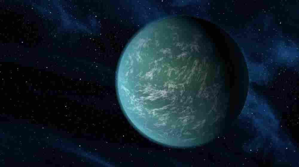 This artist's conception illustrates Kepler-22b, a planet known to comfortably circle in the habitable zone of a sun-like star. It is the first planet that NASA's Kepler mission has confirmed to orbit in a star's habitable zone — the region around a star where liquid water, a requirement for life on Earth, could persist.