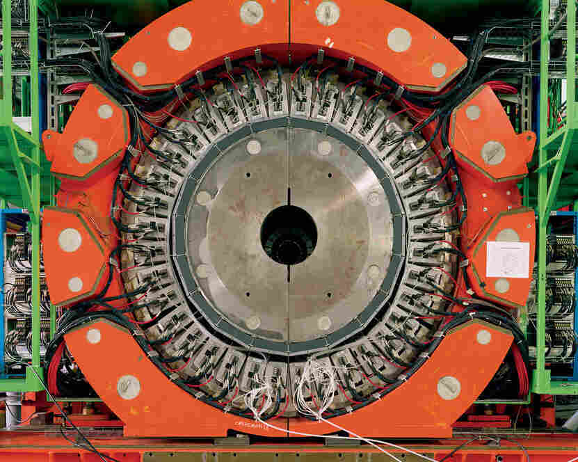 One section of a particle detector in the Large Hadron Collider, the world's largest and highest-energy particle accelerator, 2006, Simon Norfolk/Institute