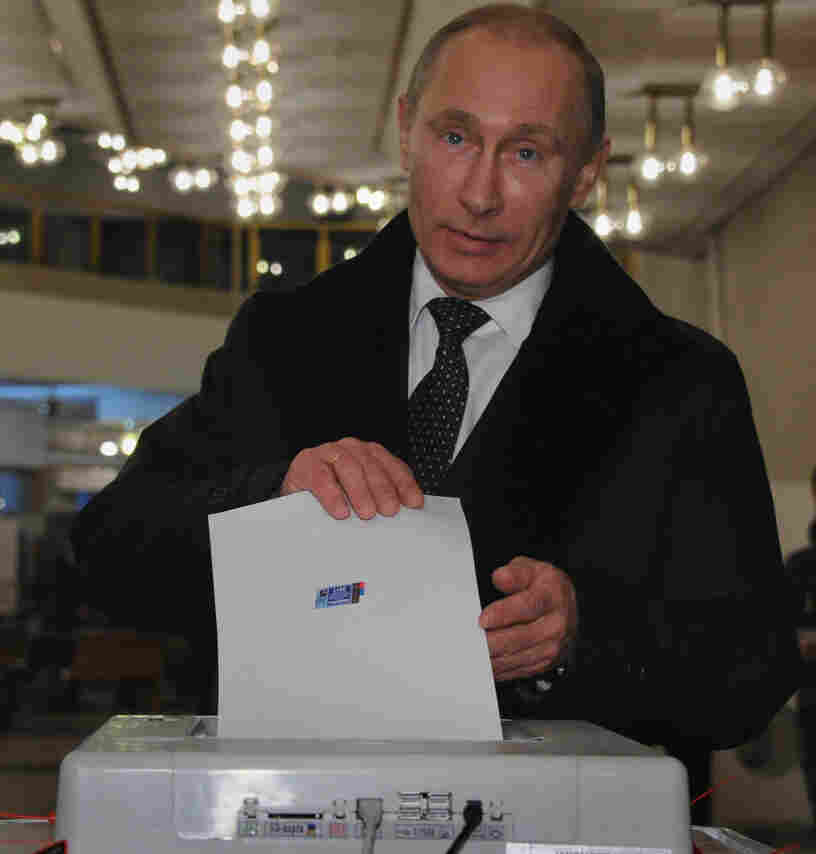 Russian Prime Minister Vladimir Putin as he voted in Moscow on Sunday (Dec. 4, 2011).