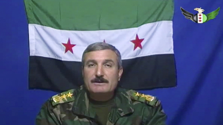 Riad al-Asaad says he's the leader of the Free Syrian Army, a group of Syrian defectors who recently posted this video on the group's Facebook page. (AP)