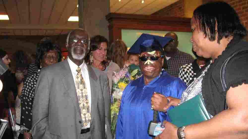 Chinonye Omeje (center) says she would like to become a nurse.