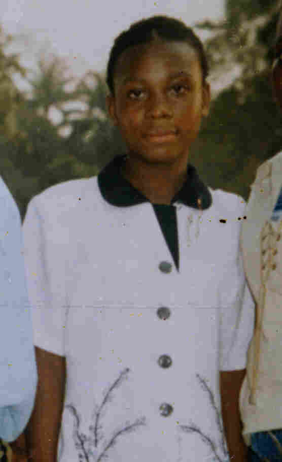 Chinonye Omeje in Nigeria at age 14, shortly before her accident.