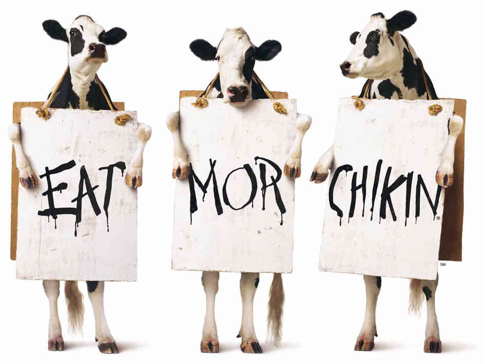 Chick fil a launched its award winning quot eat mor chikin quot ad campaign in
