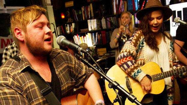 Of Monsters and Men perform for KEXP from the KEX Hostel in Reykjavik, Iceland during the Iceland Airwaves festival.  (KEXP)