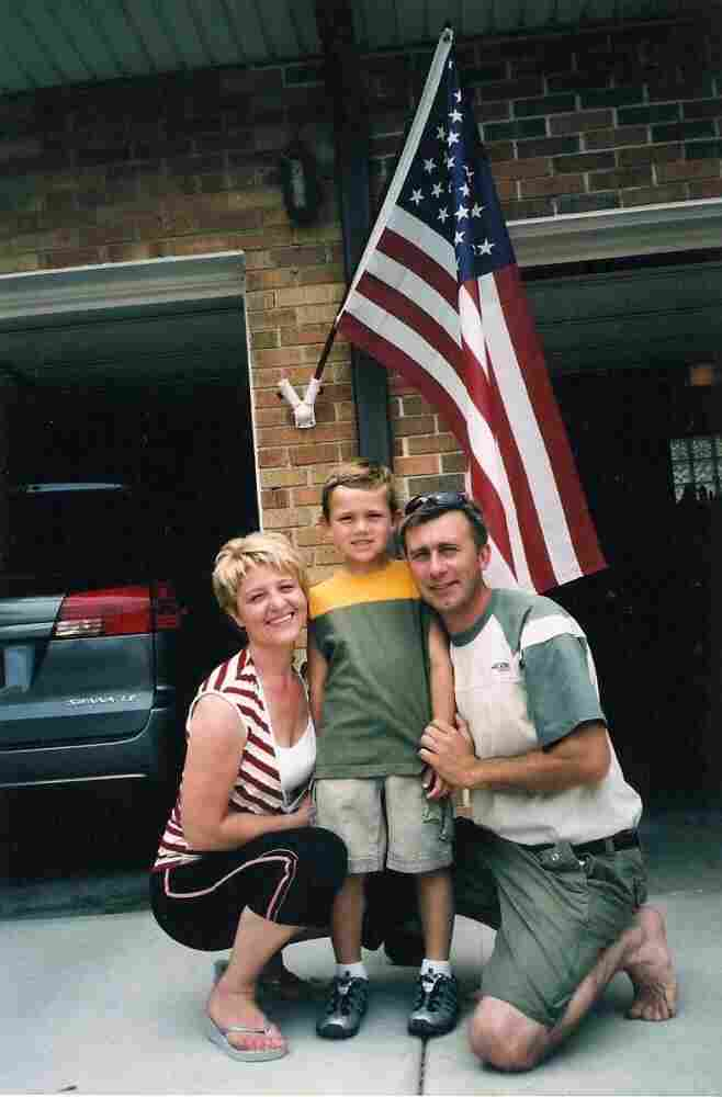 Janina, Brian and Tony in 2007, before the deportation.
