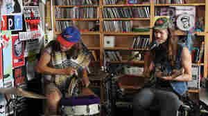 JEFF the Brotherhood performs a Tiny Desk Concert at the NPR Music offices on August 29, 2011.