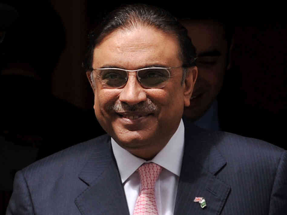 President Asif Ali Zardari is in Dubai for heart treatment, his office says. But Zardari's government is embroiled in controversy. That has Pakistanis wondering if he might resign while he's out of the country.